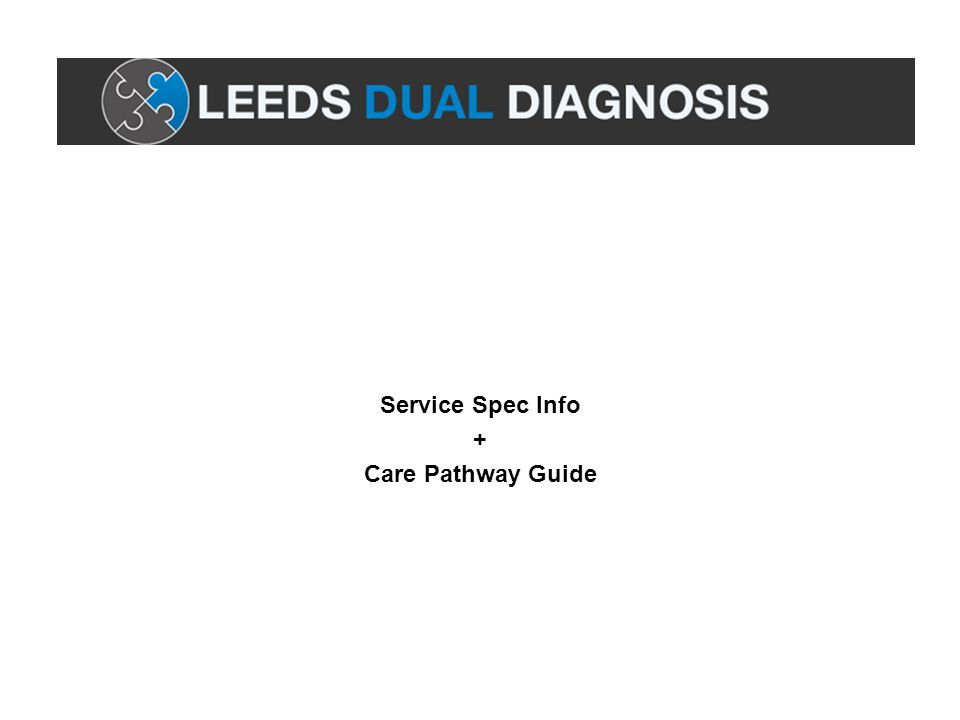 Service Spec Info + Care Pathway Guide