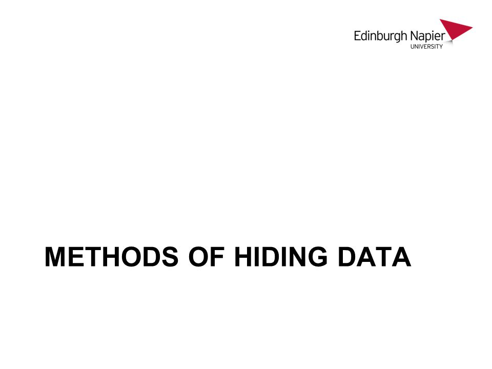 METHODS OF HIDING DATA