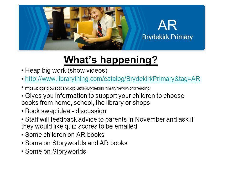 AR Brydekirk Primary Conclusion WALT & WILF? Questions Feedback Hand out