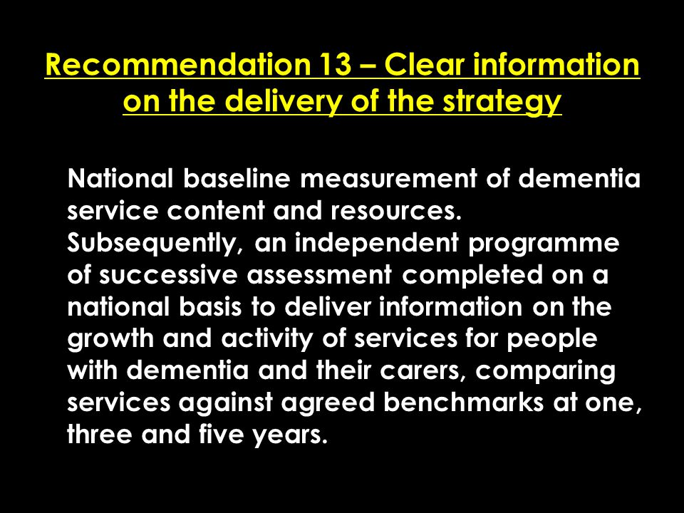 Add date of event here CSIP Region logo here Recommendation 13 – Clear information on the delivery of the strategy National baseline measurement of de