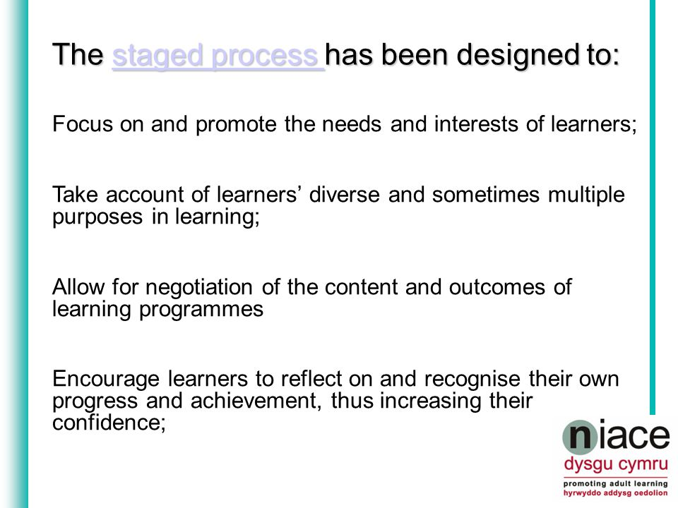 RARPA Recognising and Recording Progress and Achievement in non-accredited learning