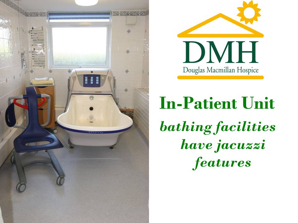 In-Patient Unit bathing facilities have jacuzzi features