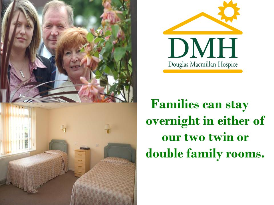 Families can stay overnight in either of our two twin or double family rooms.