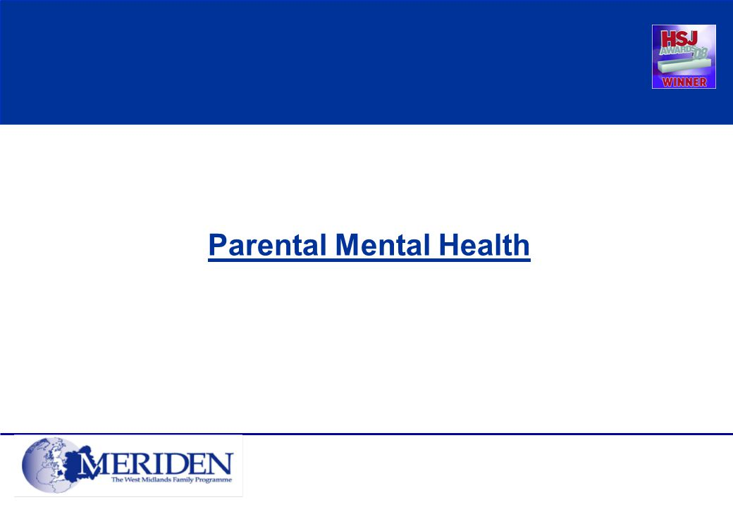 Parental Mental Health