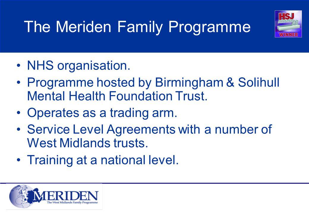 The Meriden Family Programme NHS organisation.