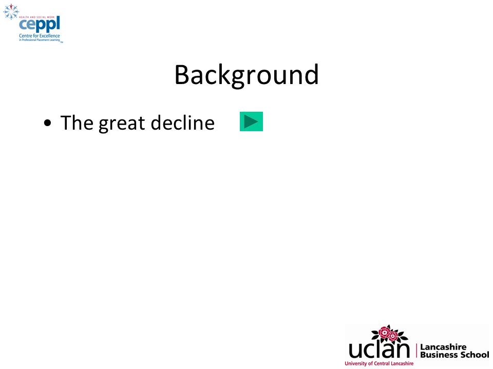 Background The great decline