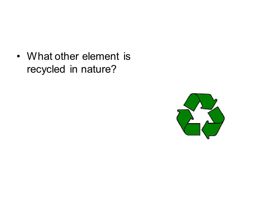 What other element is recycled in nature?