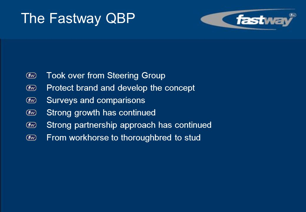 Early Conclusions The Fastway partners are delivering an exciting project that is well supported locally.