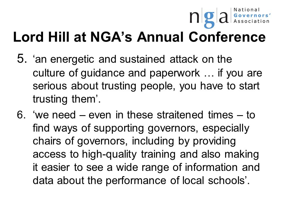 Lord Hill at NGA's Annual Conference 5.