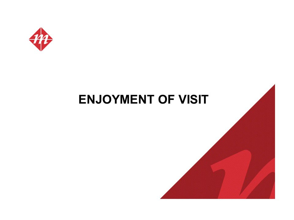 ENJOYMENT OF VISIT