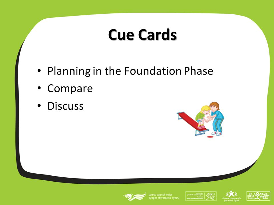 Cue Cards Planning in the Foundation Phase Compare Discuss