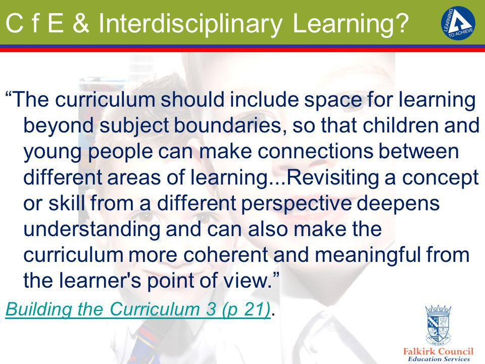 Why Interdisciplinary Learning.