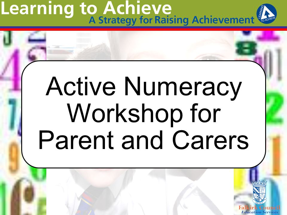 Active Numeracy Workshop for Parent and Carers