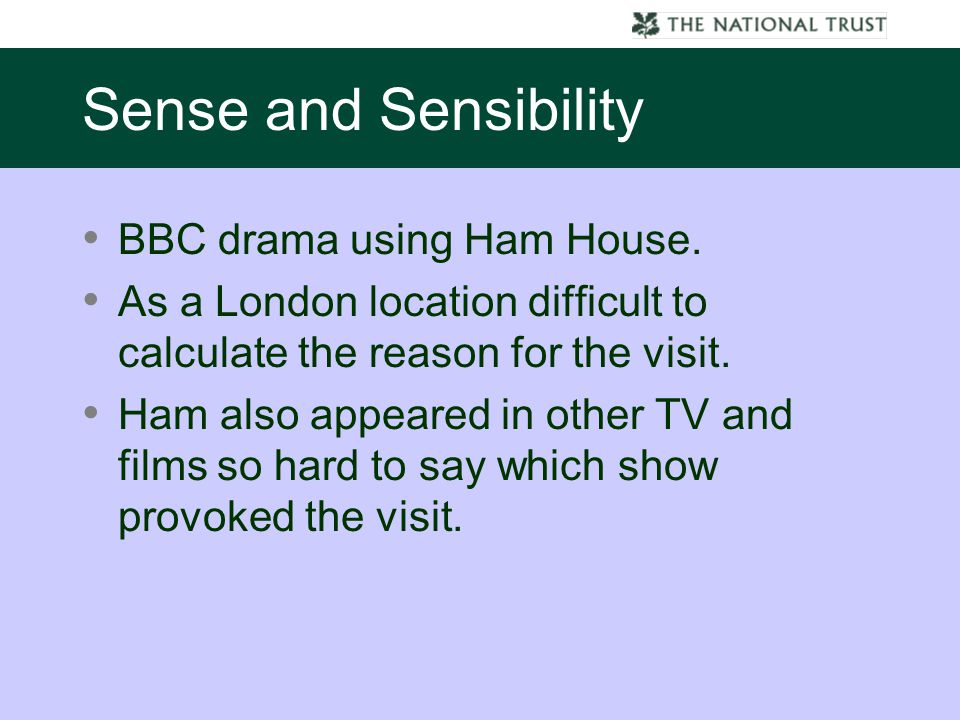 BBC drama using Ham House. As a London location difficult to calculate the reason for the visit.
