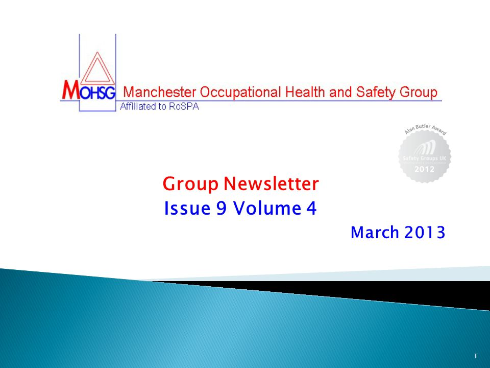 Group Newsletter Issue 9 Volume 4 March 2013 1