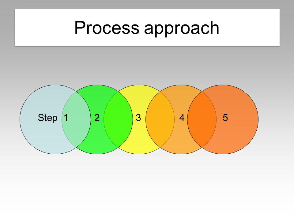 Process approach 3452Step 1 Process approach