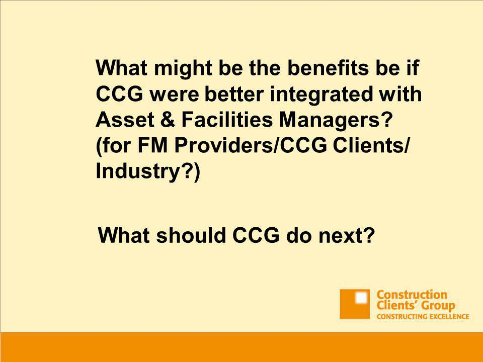 What should CCG do next.