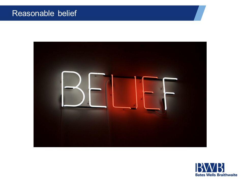 Reasonable belief