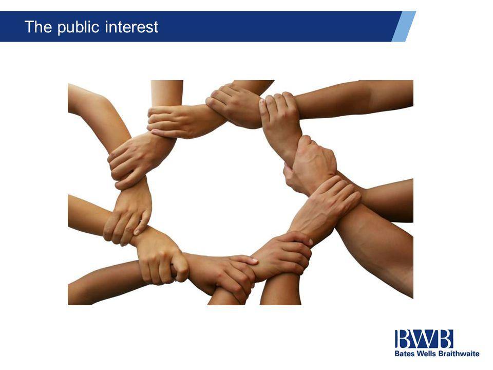 The public interest