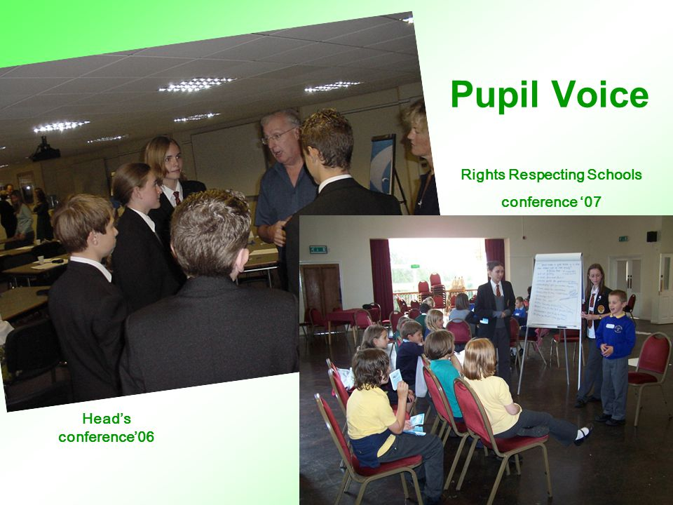 Pupil Voice Head's conference '06 Head's conference'06 Rights Respecting Schools conference '07