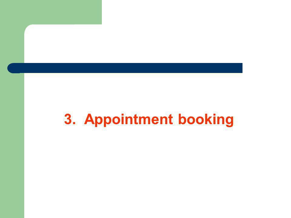 3. Appointment booking