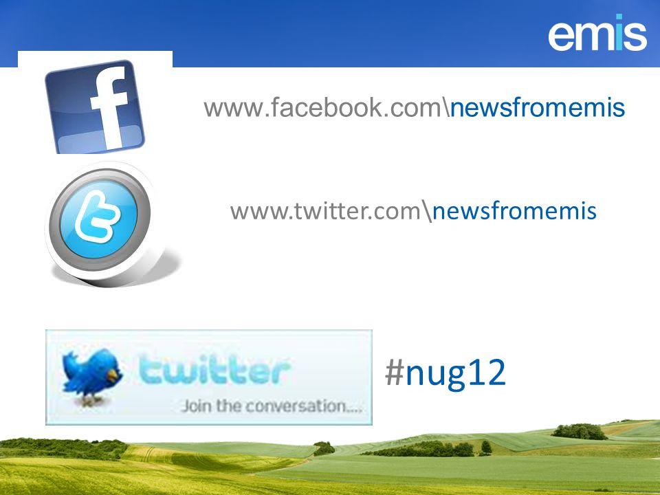 www.twitter.com\newsfromemis www.facebook.com\newsfromemis #nug12