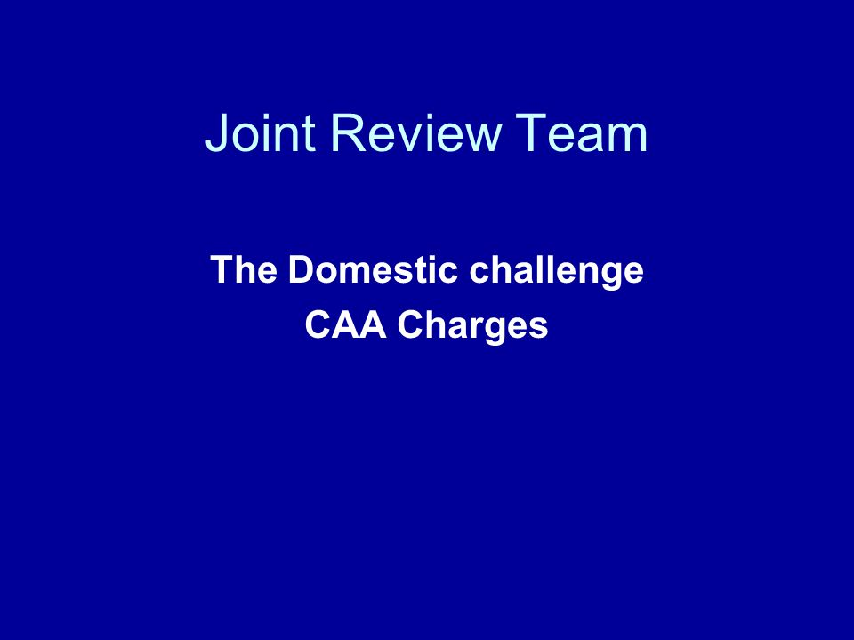 JRT Stated Objectives Consensus on impact of EASA on SRG Remove/minimise Charging Scheme cross subsidies Identify opportunities to increase efficiency Improve charges consultation Conclude for 2005/6 charges proposals Underlying need to meet regulatory oversight balancing transparency, cost relatedness and equity