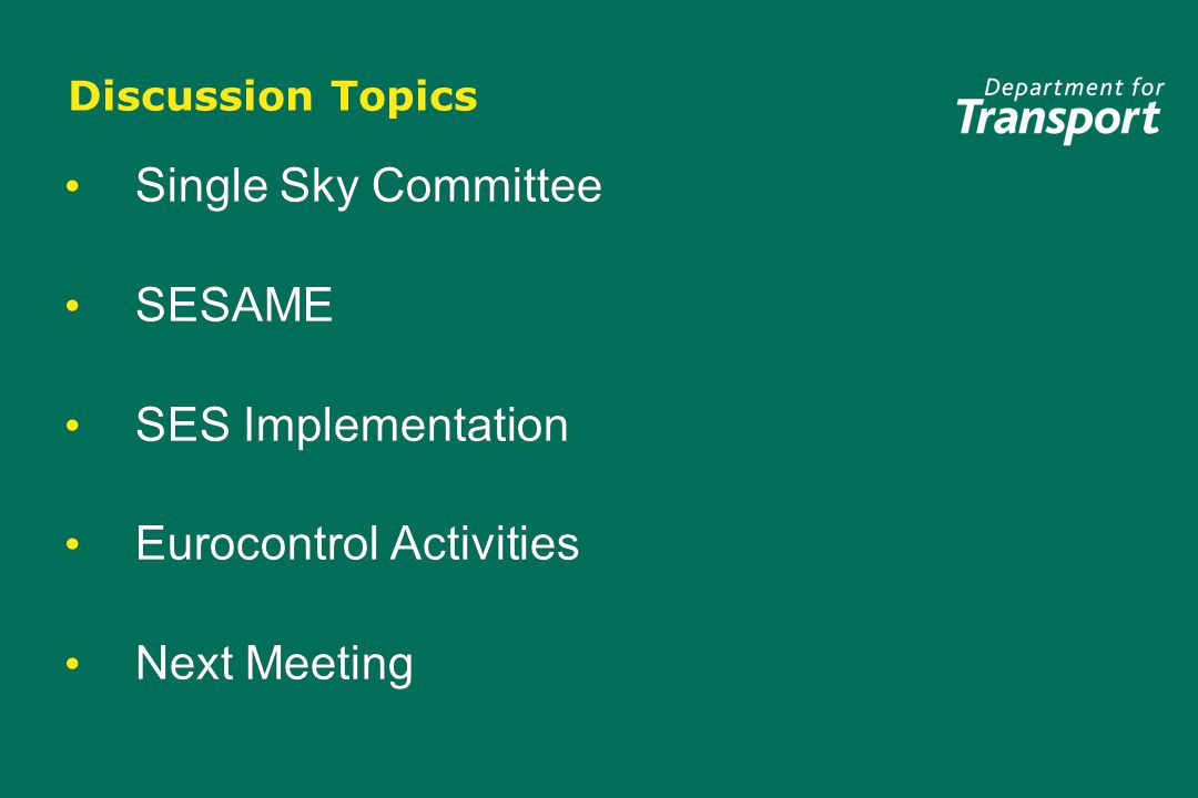 Single Sky Committee Implementing Rules Agreed by SSC: Common Requirements Flexible Use of Airspace concept Implementing Rules Under Development: Charging Airspace classification (above FL195) Interoperability Initial Flight Plan Co-ordination and Transfer Flight Message Transfer Protocol Implementing Rules Agreed by SSC: Common Requirements Flexible Use of Airspace concept Implementing Rules Under Development: Charging Airspace classification (above FL195) Interoperability Initial Flight Plan Co-ordination and Transfer Flight Message Transfer Protocol