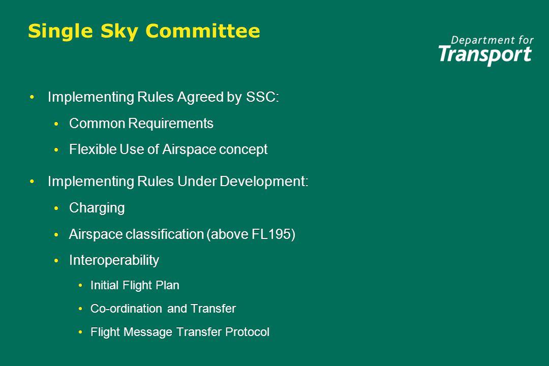 SSC Work programme