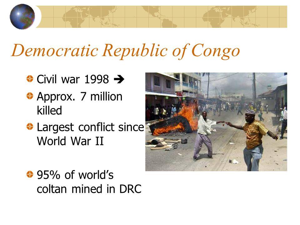 Democratic Republic of Congo Civil war 1998  Approx.