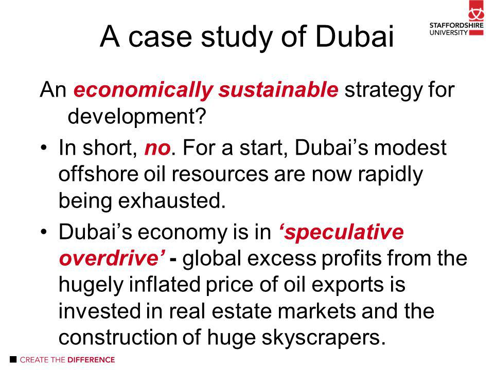 An economically sustainable strategy for development.