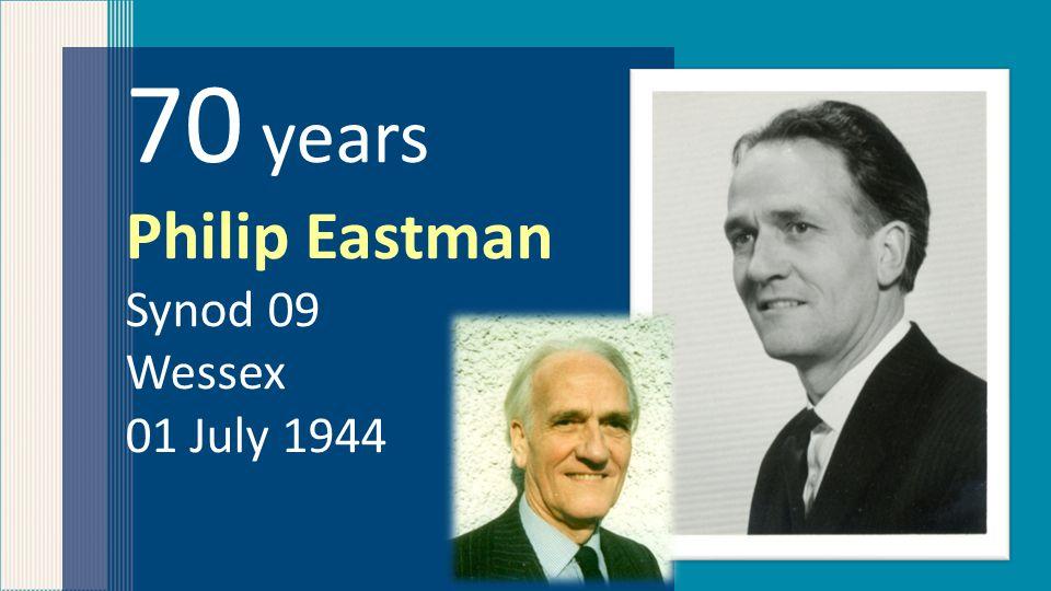 50 years Robert Philip Synod 13 Scotland 22 May 1964