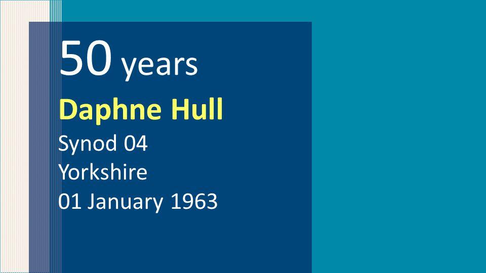 50 years Daphne Hull Synod 04 Yorkshire 01 January 1963