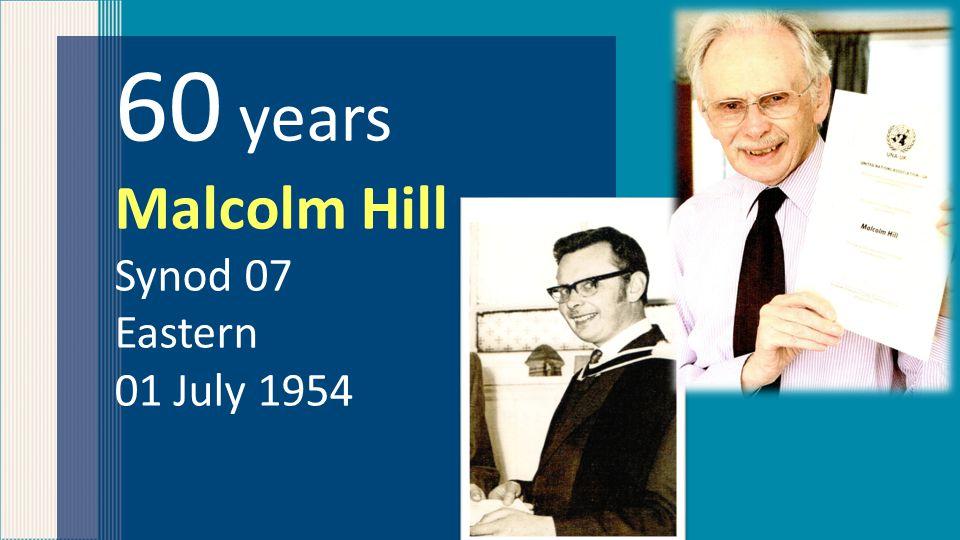 60 years Bernard Holt Synod 04 Yorkshire 11 July 1953