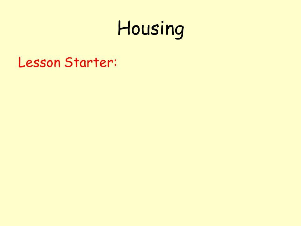 Housing Lesson Starter: