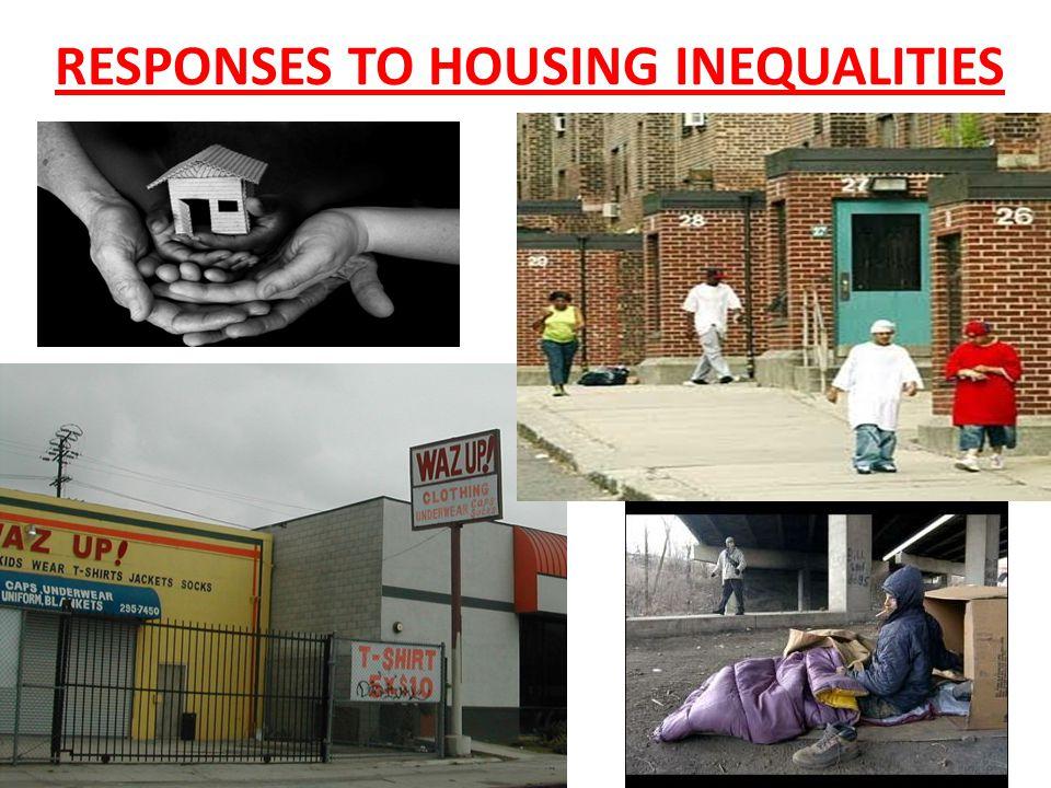 RESPONSES TO HOUSING INEQUALITIES
