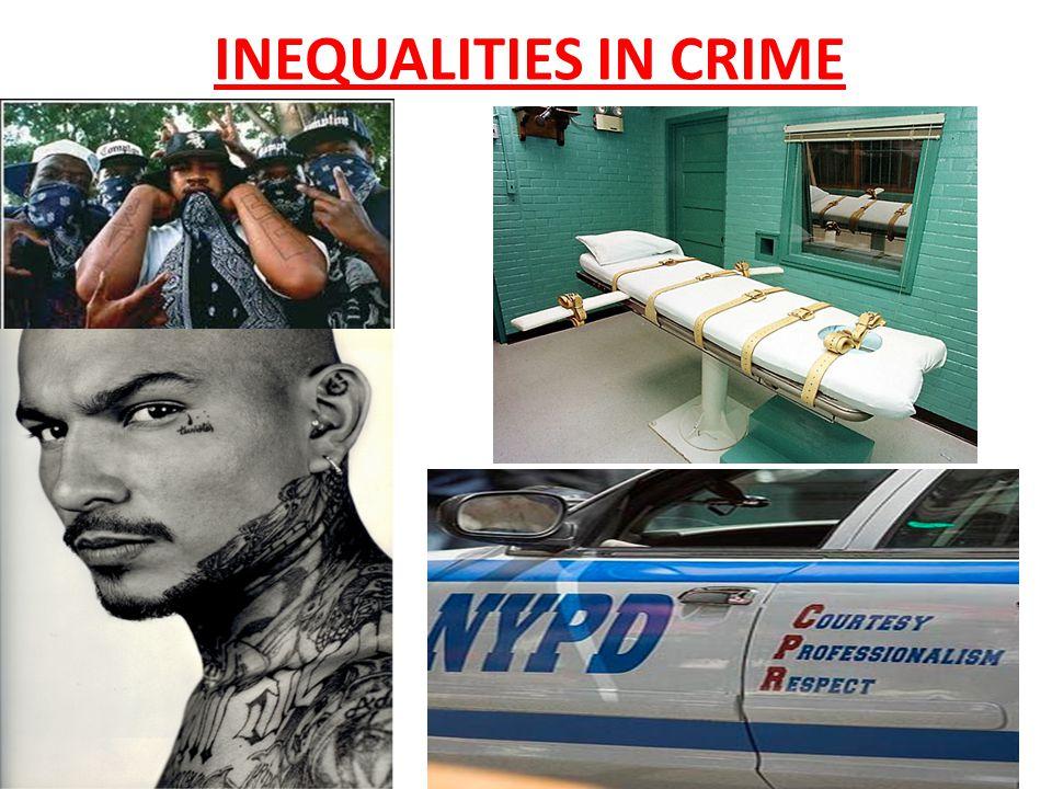 A disproportionate number of blacks make up numbers of arrests, prosecutions & prison sentences.