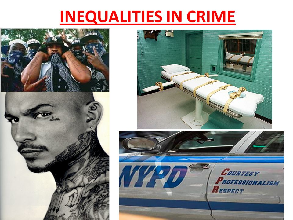 INEQUALITIES IN CRIME