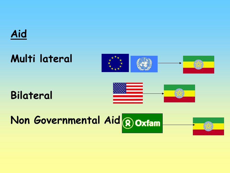 Aid Multi lateral Bilateral Non Governmental Aid