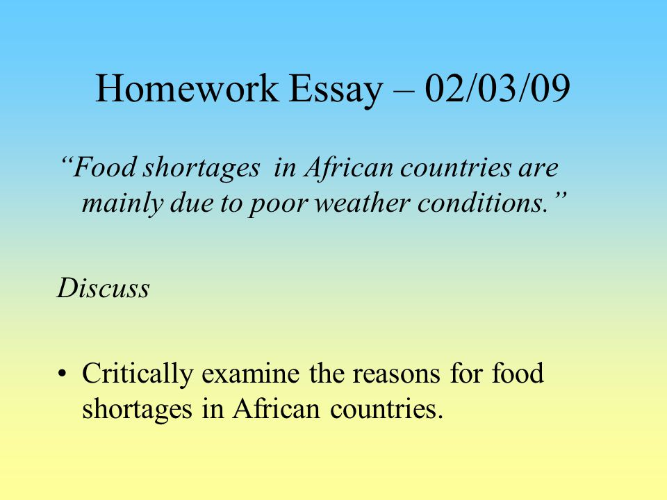 shortage water essay