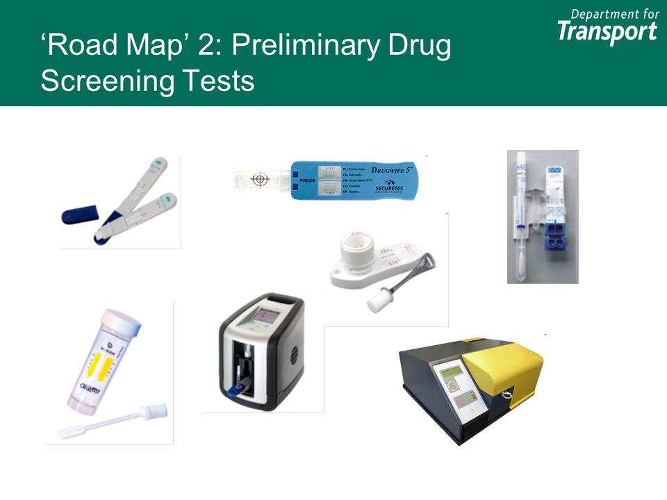 'Road Map' 2: Preliminary Drug Screening Tests