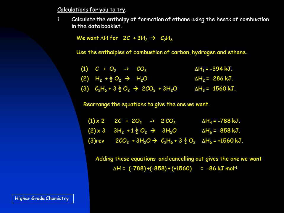 Higher Grade Chemistry Calculations for you to try.