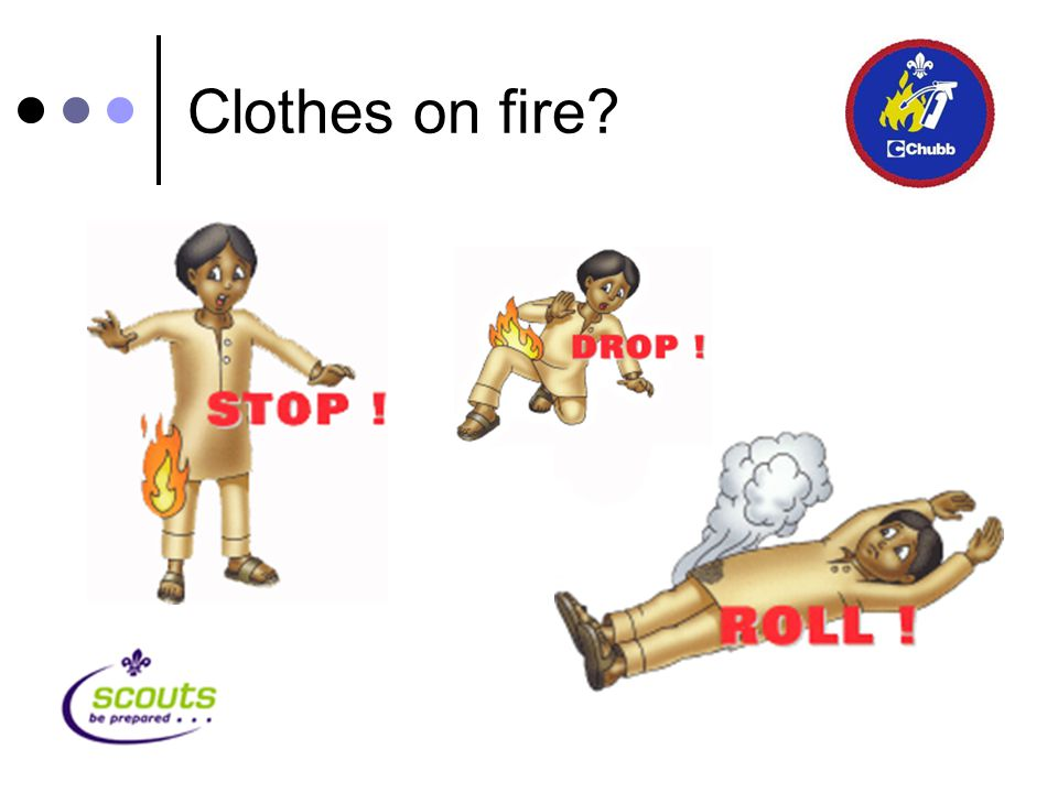 Clothes on fire