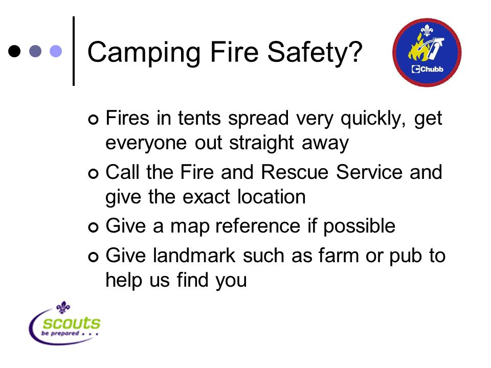 Camping Fire Safety.