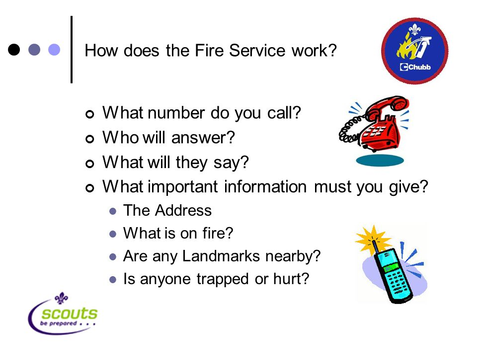 How does the Fire Service work. What number do you call.