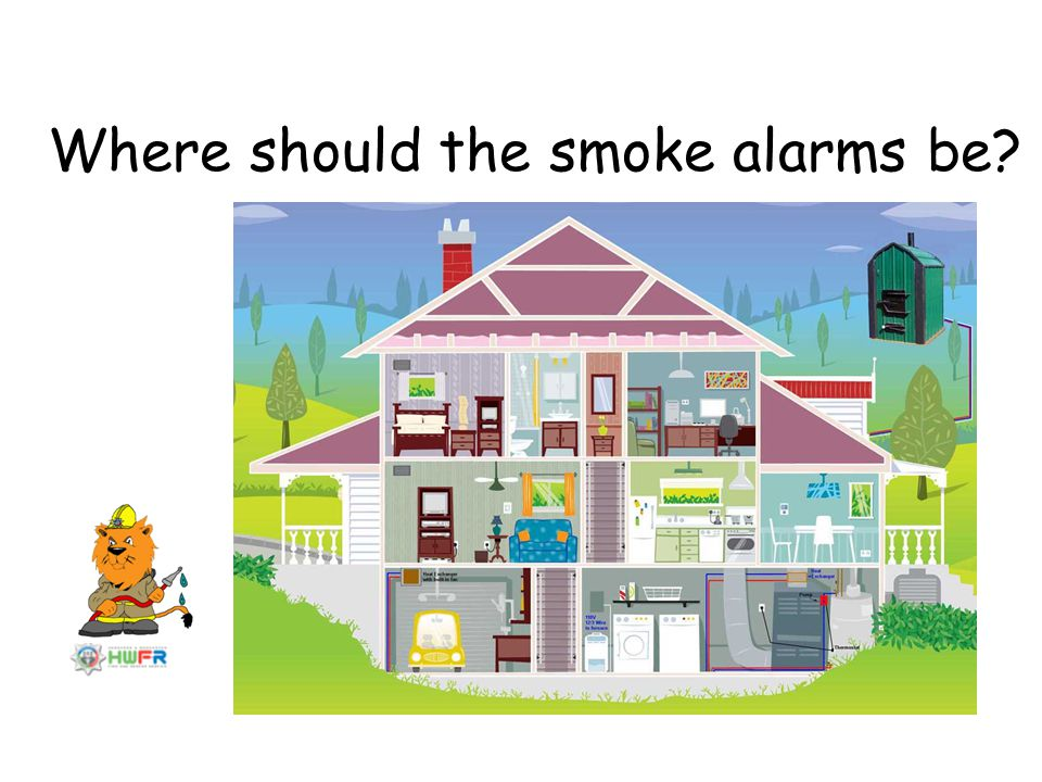 Where should the smoke alarms be
