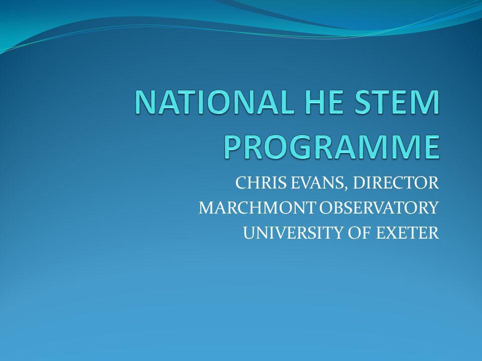 CHRIS EVANS, DIRECTOR MARCHMONT OBSERVATORY UNIVERSITY OF EXETER