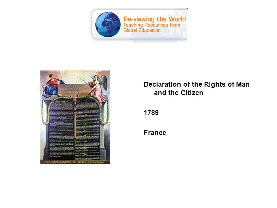 Declaration of the Rights of Man and the Citizen 1789 France