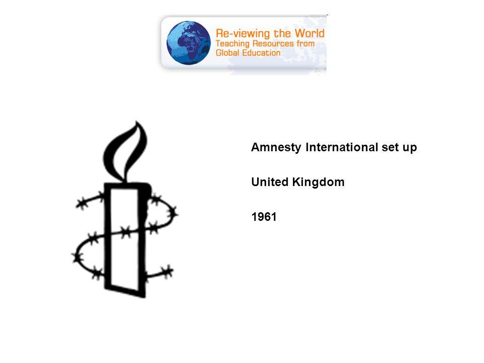 Amnesty International set up United Kingdom 1961