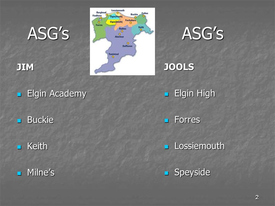 2 ASG'sASG's ASG'sASG's JIM Elgin Academy Elgin Academy Buckie Buckie Keith Keith Milne's Milne's JOOLS Elgin High Elgin High Forres Forres Lossiemouth Lossiemouth Speyside Speyside